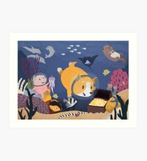 Diving For Treasure Art Print