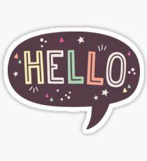Hello Speech Bubble Typography Sticker