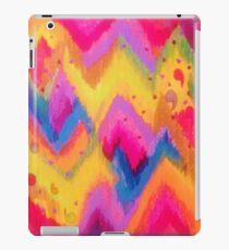 BOLD QUOTATION - Bright Vibrant Neon Quote Chevron Pattern Ikat Rainbow Trendy Design Fun Art iPad Case/Skin