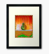 """Enhanced Pear"" Framed Print"