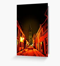 Darkness on the edge of town... Greeting Card