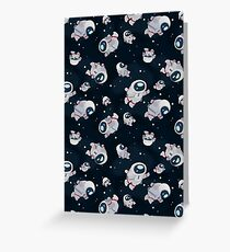 Floating Astronauts Greeting Card