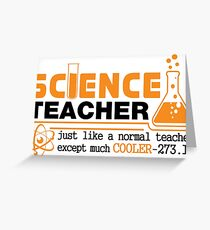 Science Teacher Witty Saying Greeting Card