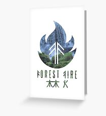 Forest Fire - Waterfall Greeting Card