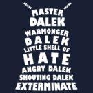 Master Dalek ('Soft Kitty' style) WHITE by starkat