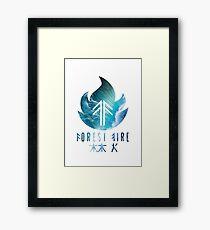 Forest Fire - Waves Framed Print