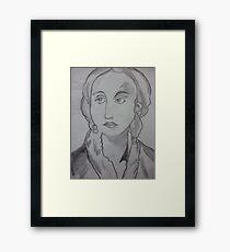 english lady Framed Print