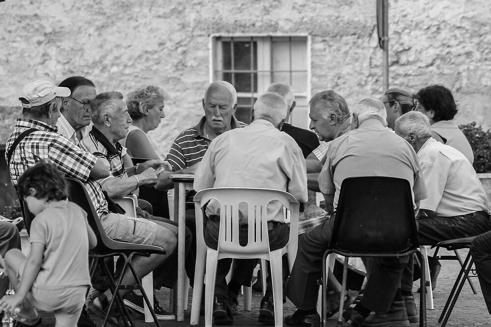Playing cards in Umbria by baro