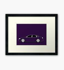 Audi A4 saloon Slammed Framed Print