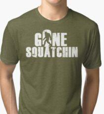 GONE SQUATCHIN' - Bigfoot Shirt Tri-blend T-Shirt