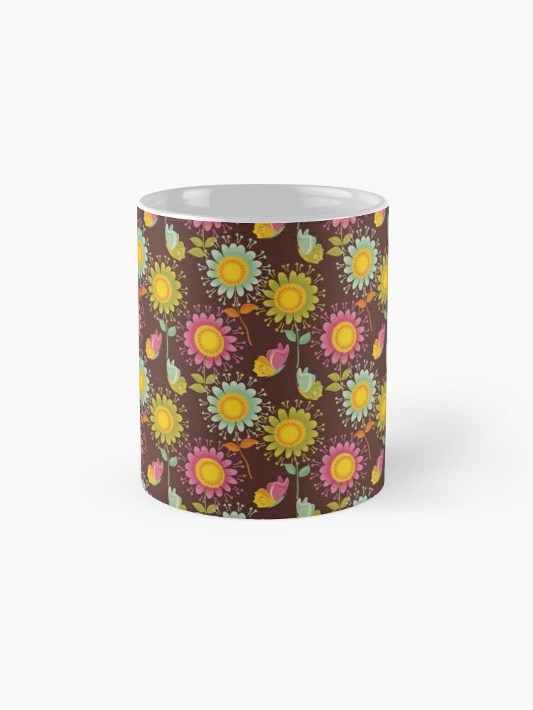 Alternate view of Colorful daisies with butterflies Mug