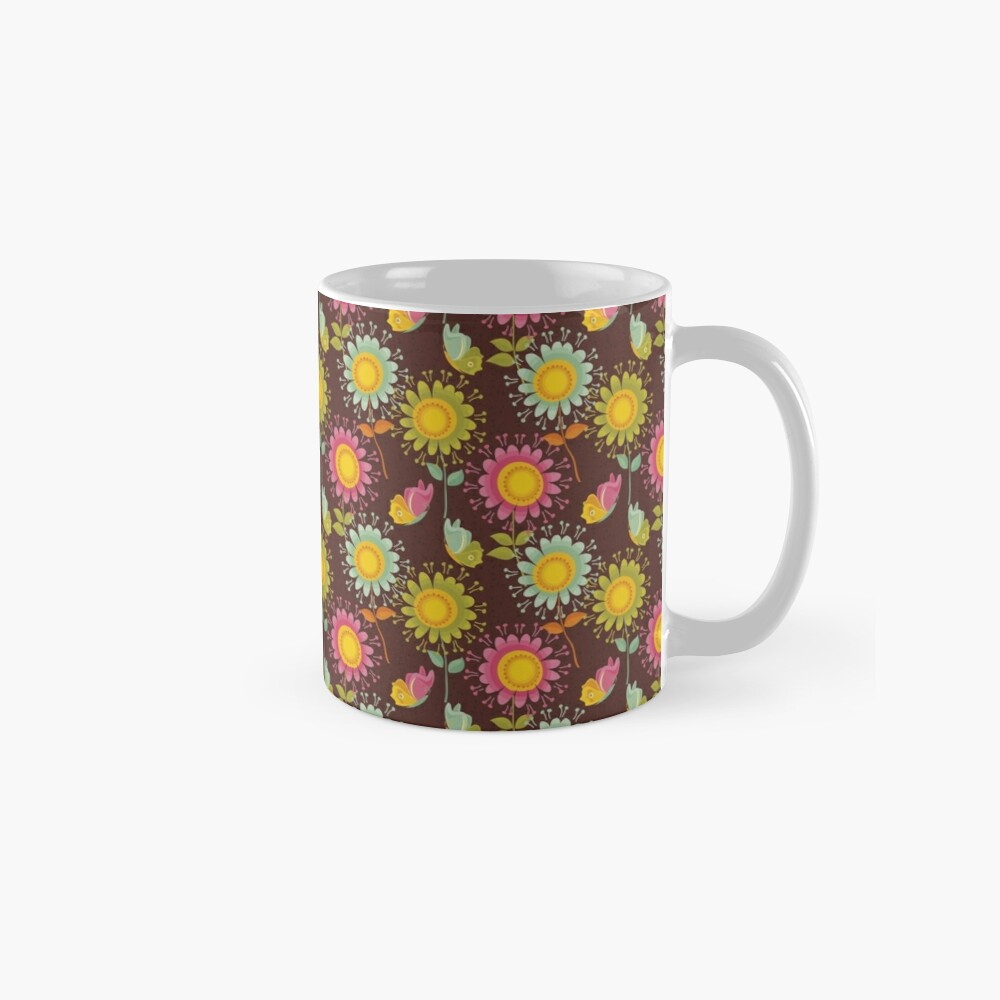 Colorful daisies with butterflies Mug
