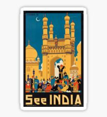 Vintage poster - India Sticker