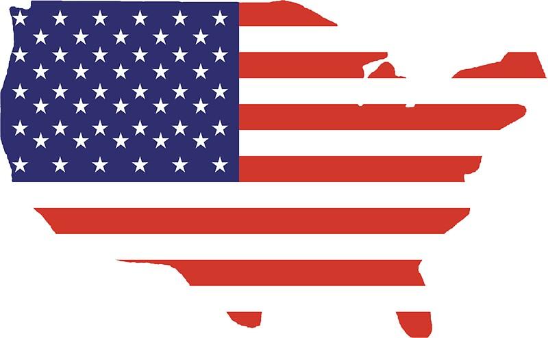American Flag Country Outline America Americana Stars - Usa outline
