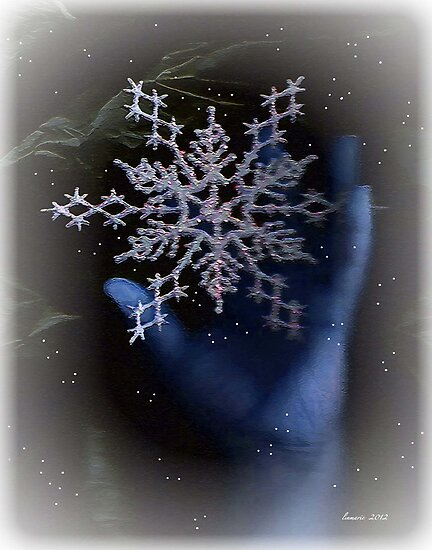 Catching snowflakes... by linmarie