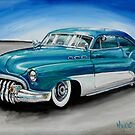 PAINTING OF CRAIG'S 1950 BUICK. by Wayne Dowsent