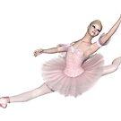 Ballerina in Pink Tutu - Grand Jeté by algoldesigns
