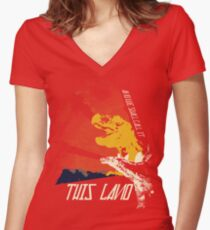 This Land (Before It All Went Wrong) Women's Fitted V-Neck T-Shirt