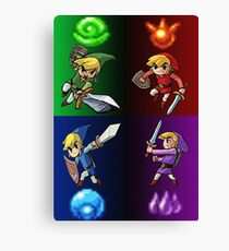 Heroes of The Four Sword Canvas Print