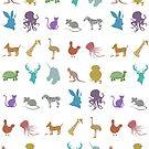 Glitter Animals by makoshark