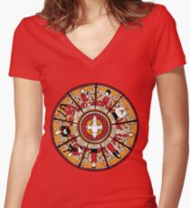 Cathedral of the Serenity Women's Fitted V-Neck T-Shirt