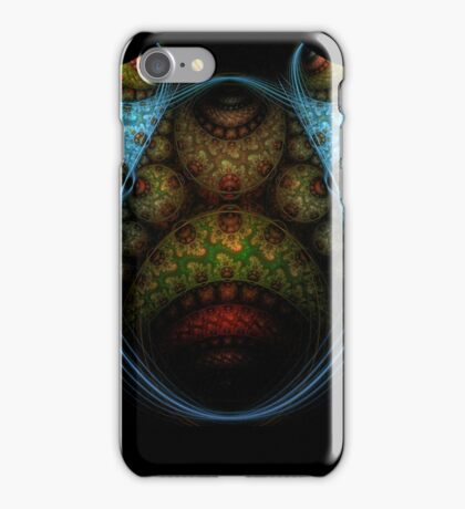 Fractal Blues and Greens iPhone Case/Skin