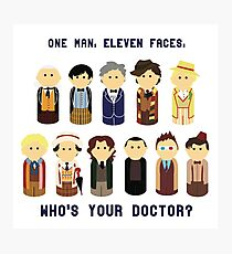 One Man, Eleven Faces Photographic Print