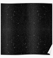 Black & White Majestic Starry Nebula Night Poster