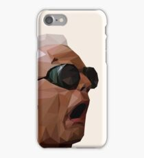 Doc Brown - Back to the Future | Christopher Lloyd Low Poly iPhone Case/Skin