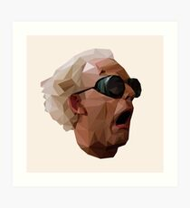 Doc Brown - Back to the Future | Christopher Lloyd Low Poly Art Print