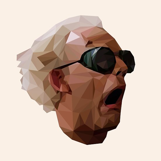 Doc Brown - Back to the Future | Christopher Lloyd Low Poly by voyagr