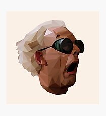 Doc Brown - Back to the Future | Christopher Lloyd Low Poly Photographic Print