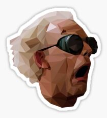 Doc Brown - Back to the Future | Christopher Lloyd Low Poly Sticker