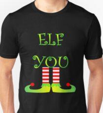 Cute Funny Christmas Elf Legs Elf You Slim Fit T-Shirt