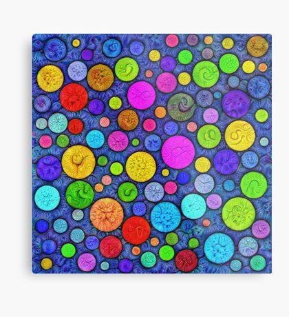 #DeepDream Color Circles Visual Areas 5x5K v1448629304 Metal Print