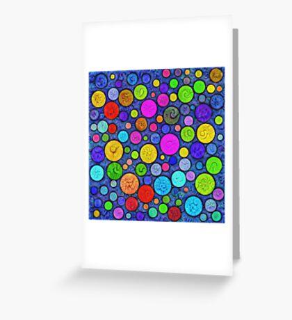 #DeepDream Color Circles Visual Areas 5x5K v1448629304 Greeting Card