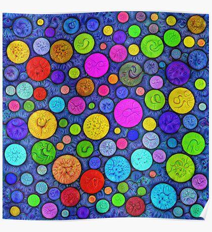 #DeepDream Color Circles Visual Areas 5x5K v1448629304 Poster