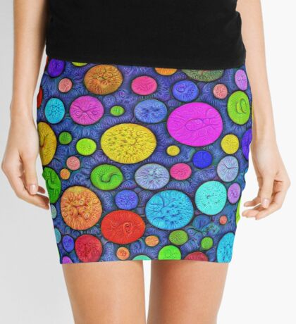 #DeepDream Color Circles Visual Areas 5x5K v1448629304 Mini Skirt