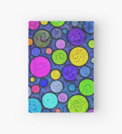#DeepDream Color Circles Visual Areas 5x5K v1448629304 Hardcover Journal