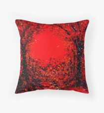 The Arches in Red by John E Metcalfe Throw Pillow