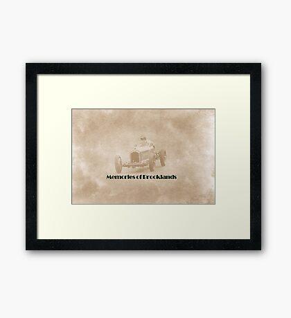 Memories of Brooklands Framed Print