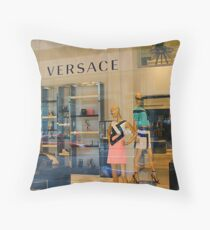 Versace 5th Avenue Street Vew Throw Pillow