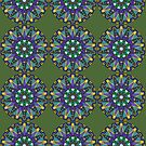 Purple, Blue, Green Mandala by Scott Mitchell