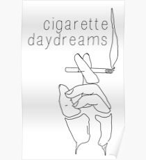 Cigarette Daydreams - In Black & White Poster