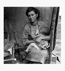 Vintage Photograph of Migrant Mother Photographic Print