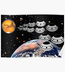 NAZA Reports a Fleet of UFOs has been Spotted Poster