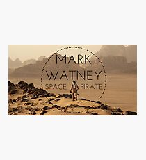 MARK WATNEY; SPACE PIRATE Photographic Print