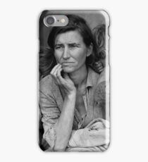 Vintage Photograph of Migrant Mother iPhone Case/Skin