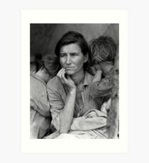 Vintage Photograph of Migrant Mother Art Print
