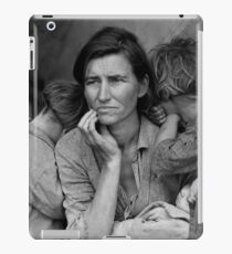 Vintage Photograph of Migrant Mother iPad Case/Skin